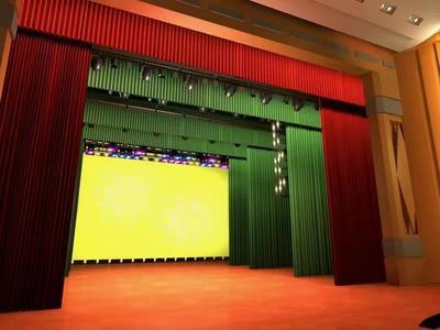 舞台幕布 电动舞台幕布 舞台拉幕系统